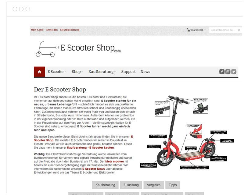 EScooter Shop Screenshot