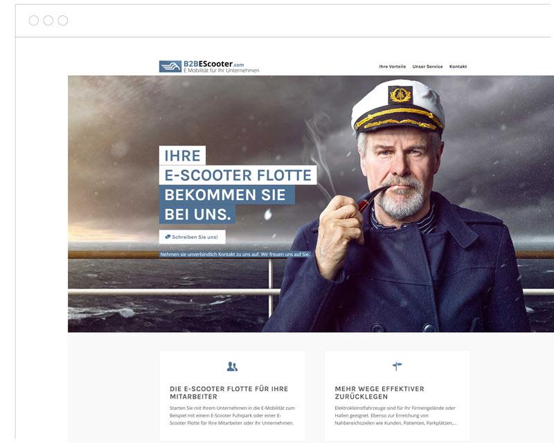 B2BEscooter.com Screenshot